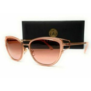 Versace Women's Pink and Rose Gold Sunglasses!